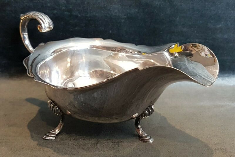 A Vintage Silver Plate Cream Pitcher / Gravy Boat by Jays of Oxford Street.