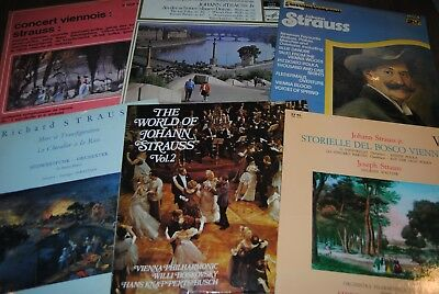 LOT 45 X LP VINYL *STRAUSS* CLASSIC MUSIC / GRAND COMPOSITEUR 33 TOURS