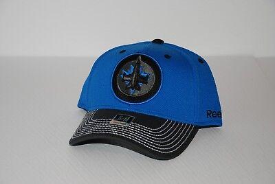 Brand New NHL Reebok Winnipeg Jets Jet Logo Fitted Hat   Cap Small   Med bf228aa6bdd6