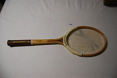 E1 Ancienne raquette Slazenger - Vintage - bois et cuir 1960