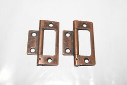 TWO COPPER FINISHED HINGES NEW CLOCK PARTS