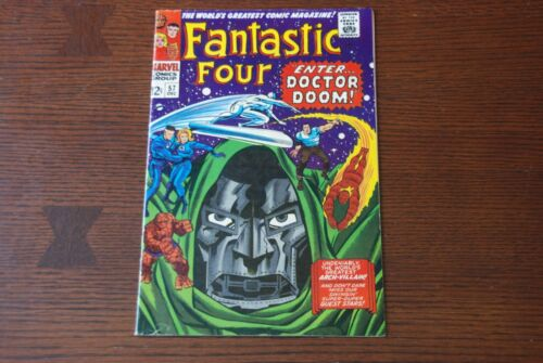 Fantastic Four #57 FN Silver Age comic featuring Silver Surfer and Doctor Doom!