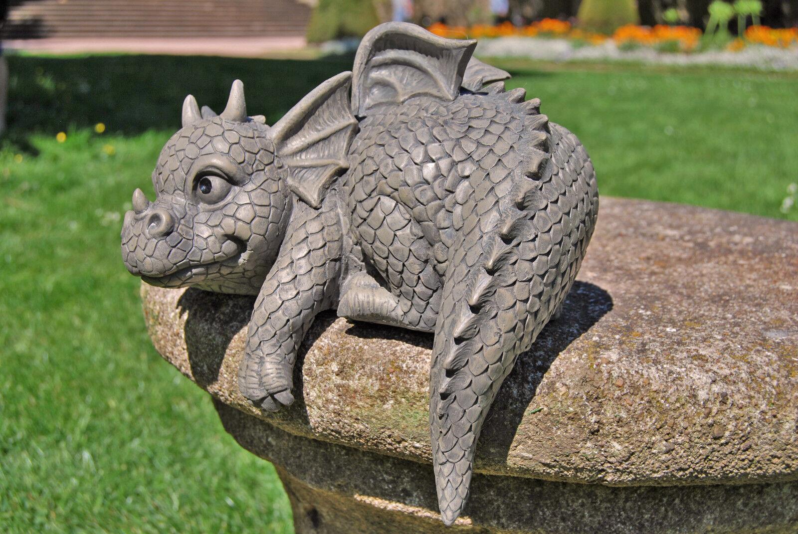 Gartendrache Kantenhocker Garten Deko Drachen Gargoyle Drachenfiguren Figuren