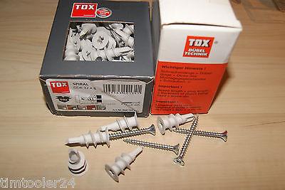 TOX Gipskartondübel Spiral 32 Schraube Spiraldübel