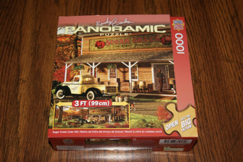 Sugar Creek Cider Mill 1000 pc Panoramic Puzzle Randy Earles FREE S/H! Help BCR!
