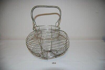 E1 Ancien objet - Panier à pinces à linges en métal