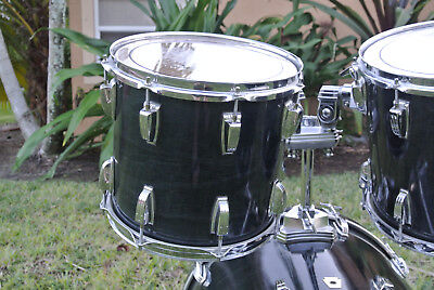 """LUDWIG 12"""" CLASSIC TOM in CHARCOAL SHADOW 12X11 for YOUR DRUM SET! LOT #D889"""