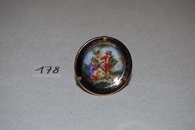 C178 Ancienne broche bijoux - romantisme français - Limoges