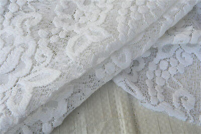 WHITE LACE LUXURIOUS HIGH DEFINITION FLORAL COTTON VISCOUS MADE IN ITALY C121](Costumes Definition)
