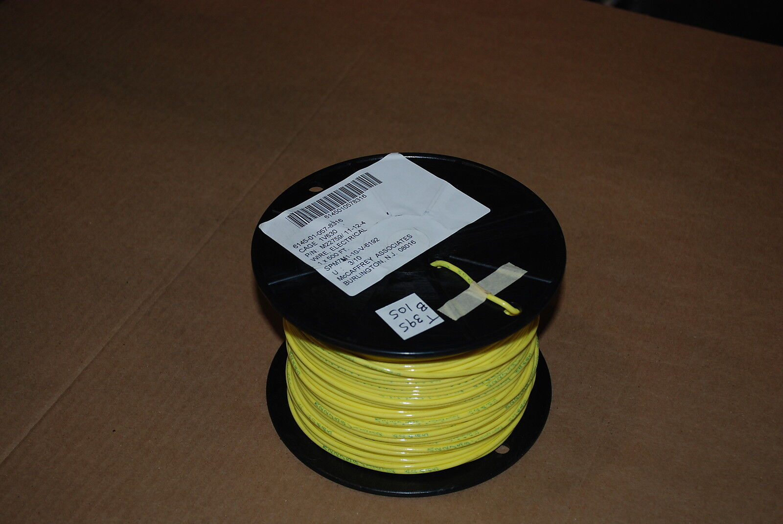 MIL SPEC WIRE M22759 11 12 4 SILVER PLATED AWG 100 FEET YELLOW