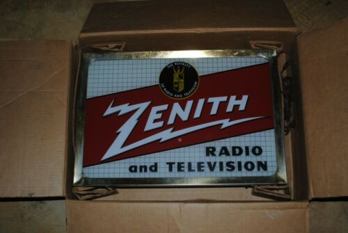 Rare Vintage Double Sided Zenith Radio and Television Sign