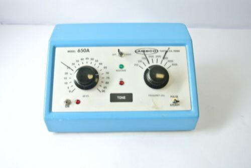 Ambco 650A Hearing Test System Audiometer