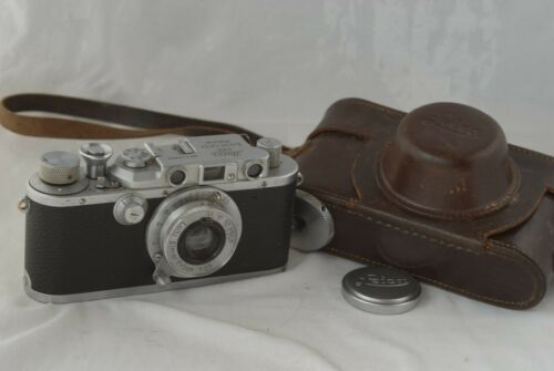 Leica IIIA SM Camera #343806 with 50mm F/3.5 Elmar Lens 3A in Exc Condition