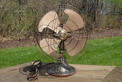 Antique 1947 General Electric 3 Speed Oscillating Desk Fan!   Works!   Original!