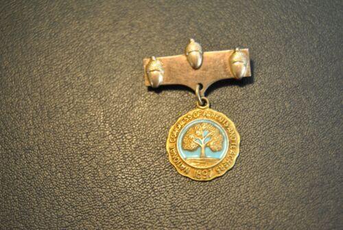 1897 National Congress of Parents & Teachers Lapel Pin Made USA Gold Filled PTA