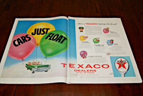 1957 Advertisement Sales Print Art Ad Poster Texaco Oil Gas & Service Stations