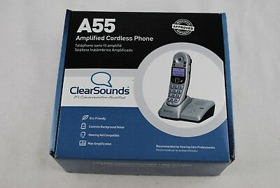 🔶 ClearSounds 900MHz Amplified Expandable Cordless Phone A55 Telephone