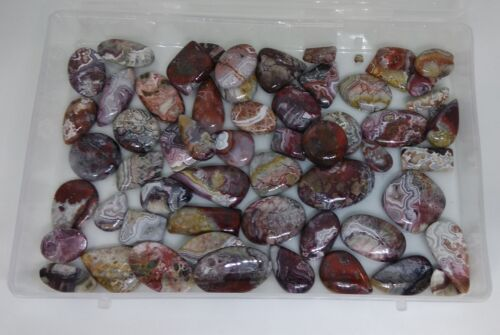 250 Cts Amazing Crazy Lace Agate Cabochon Natural Gemstone Wholesale Lot