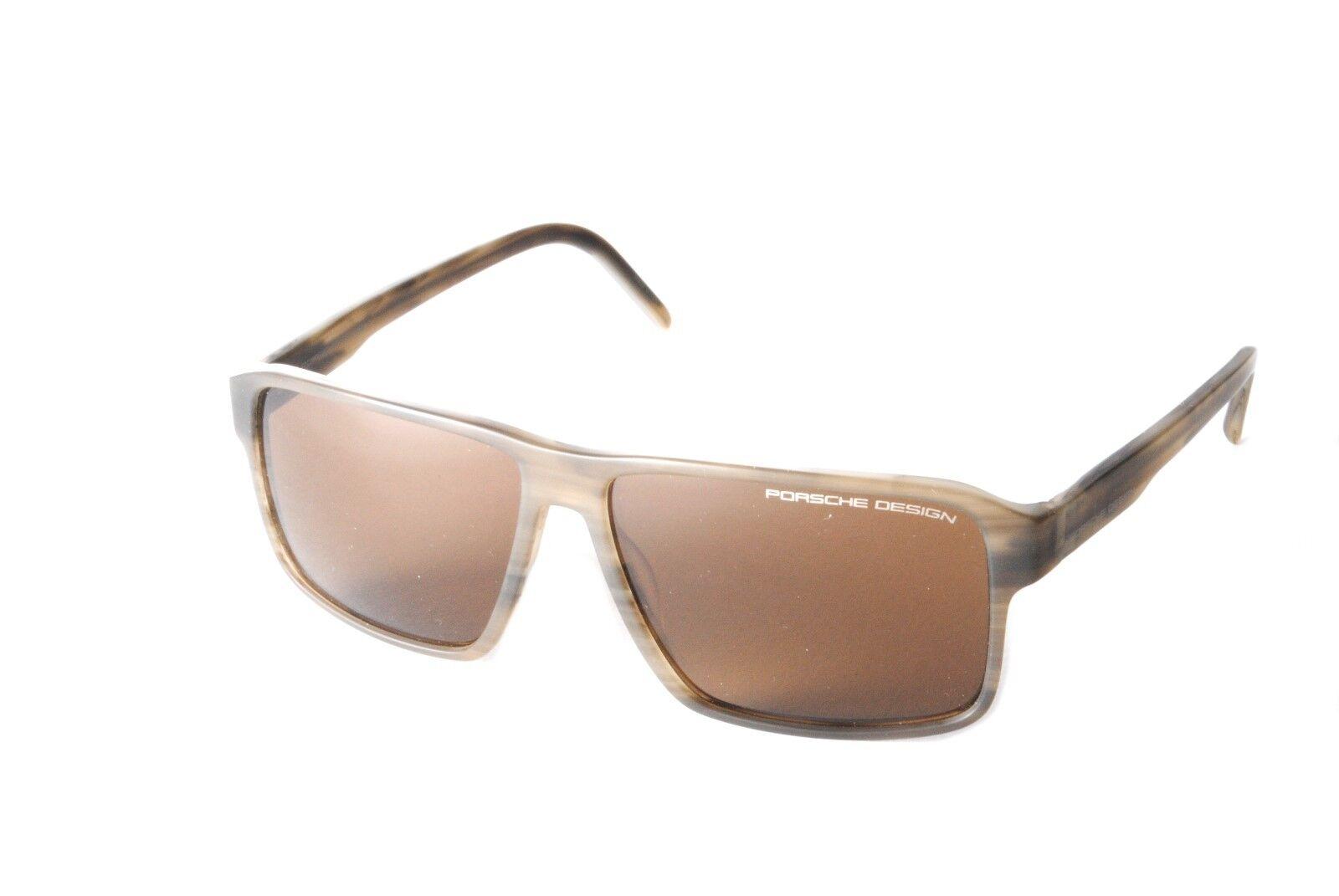 7fd898b1c7 Porsche Design P8634D Matt Grey Mottle Brown Sunglasses
