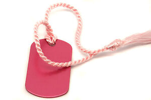 Personalised-Small-Pink-Dog-Tag-Bookmark-Gift-Box-Choice-of-Tassel-Engraved