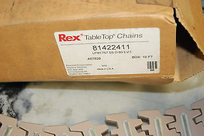 Rexnord 81422411 Table Top Chain10 Long With High Friction Insert New In Box