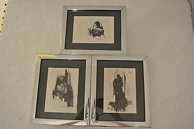 Lot of 3 Vintage 1971 Vanguard Studios Lee Burr Framed Prints