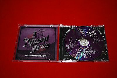 country music group A THOUSAND HORSES 1000 signed cd by entire band  C.O.A.