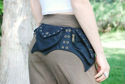 Hip Bag for Women, Festival Belt Bag, Black Fanny Pack, Wais