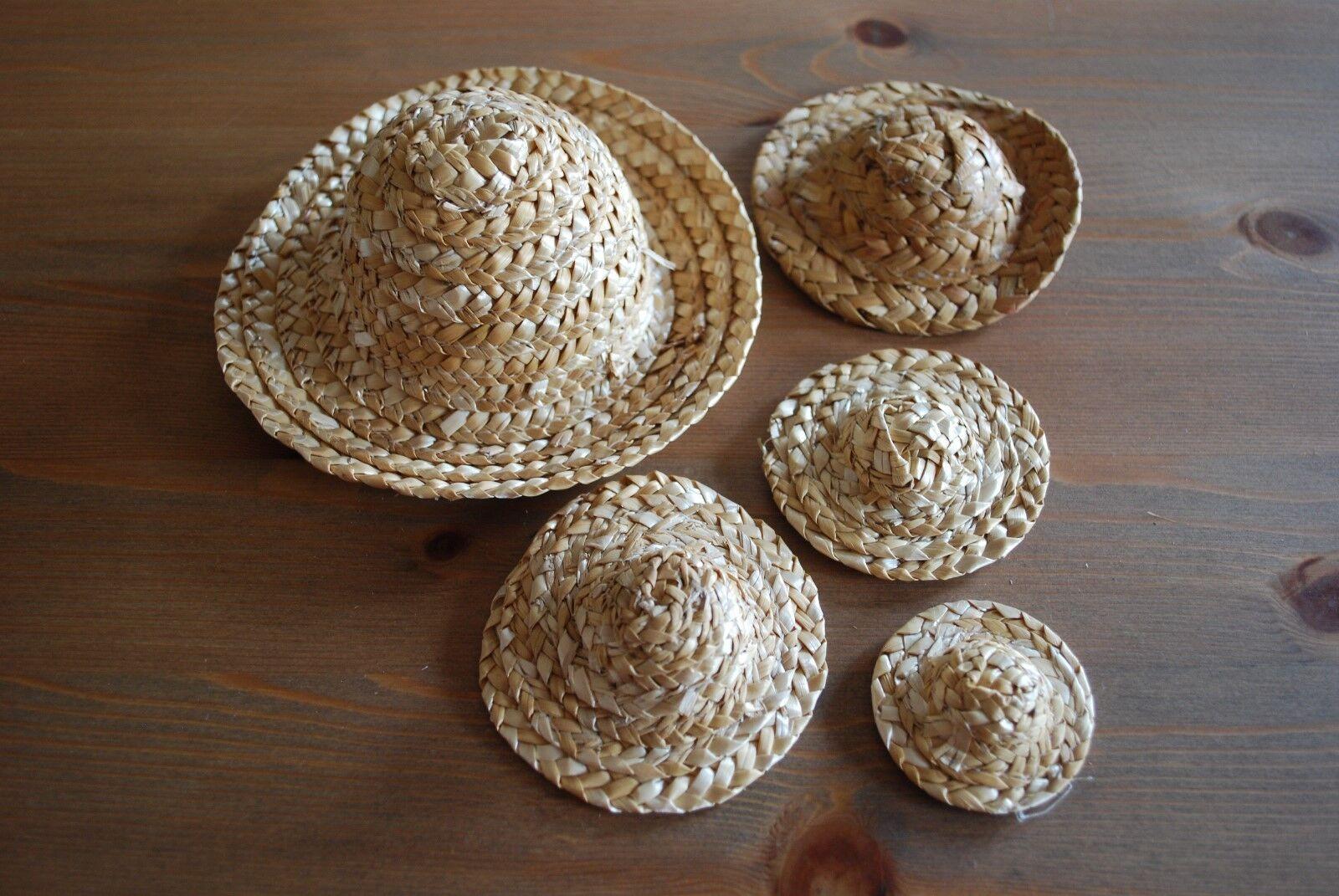 Sonnenhut Strohhut, Acccessoire für Puppen oder Bären, versch. Größen verfügbar