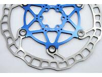 Ashima Flo-tor Floating Mountain Bike Disc Brake Rotor MTB 160mm BLUE 115g