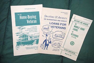 3 1971 Veteran's Administration Pamphlets