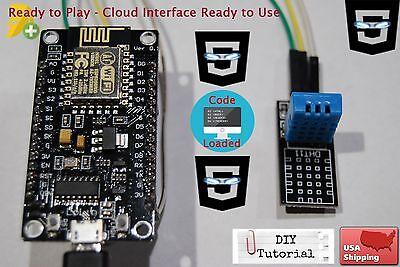 Dht11 Nodemcu Esp-12e Wifi Code Cloud Data Ready To Use Temperature Humidity