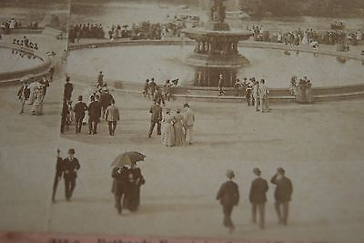c1890s Bethesda Fountain, Central Park, Stereoview Fashion, Victorian