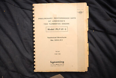 Tech Brochure  Preliminary Performance Data Of Lycomings T55 Turbofan Engine