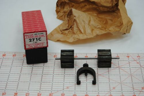NEW Machinist Starrett 271 C Drill V Blocks and Clamp