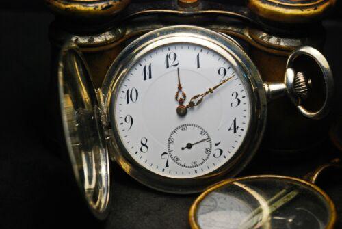antique silver pocket watch ,Switzerland 1900