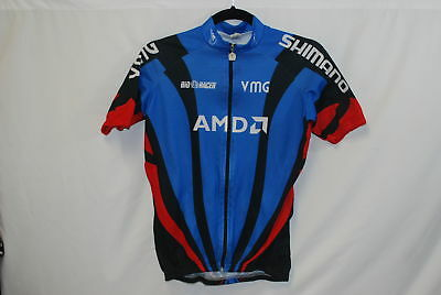 Bio Racer Cycling Jersey Small S Blue AMDO Shimano Specialized Full Zip 74c55eae1