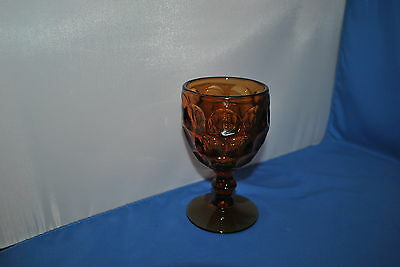 IMPERIAL GLASS PROVINCIAL AMBER GOBLET
