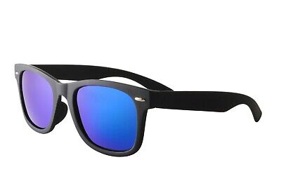 Matt Black Polarised Mirrored Trendy Wayfare Sunglasses Cheap UV400
