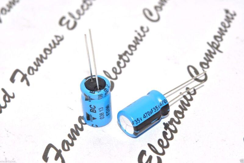 10pcs - Vishay BCcomponents 038 470uF (470µF) 35V Radial Aluminum Capacitor
