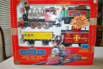 Electric Railroad Christmas Train Track set 18' feet for xmas Tree or village