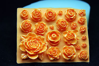 Small Flowers #3, Silicone Mold Chocolate Polymer Clay Jewelry Soap Wax Resin