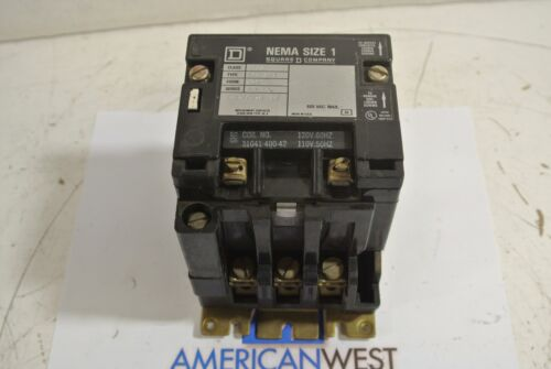 Square D 8502 SCO 2S1 Size 1 600 VAC Contactor w/ 120 VAC Coil