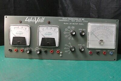 Vintage Buck Engineering Lab-volt Model 29 Meter Panel Power Supply Box 12au7a