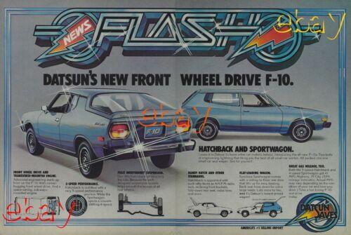 1976 Datsun F10 Ad Fastback Vintage Magazine Advertisement F 10 5 Speed Blue 76