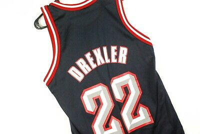 299702c349c Vintage 90s Clyde Drexler Jersey Houston Rockets Champion Blue Mens Small 36