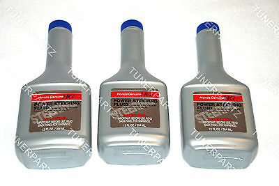 3 x BOTTLES GENUINE NEW OEM ACURA HONDA Power Steering Fluid Oil FOR ALL HONDAS
