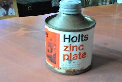 VINTAGE ZINCPLATE METAL TIN