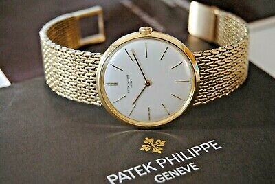 VINTAGE 1960 PATEK PHILIPPE CALATRAVA 2591 MAN. WIND 23-300 18K GOLD MENS WATCH