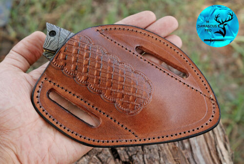HAND MADE PURE COW LEATHER SHEATH FOR KNIVES & OTHER TOOLS - AJ  1307